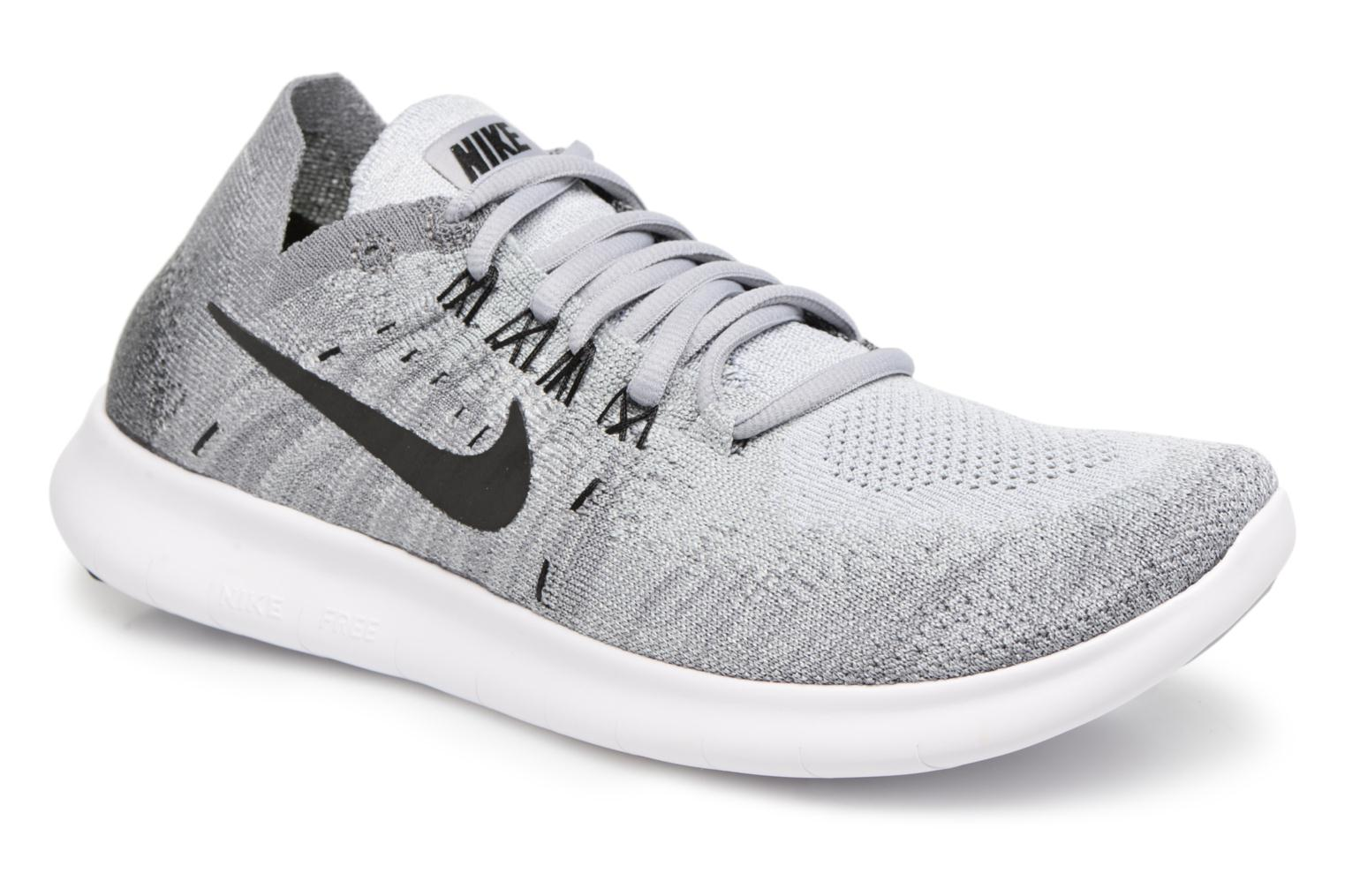 Sport shoes Nike Wmns Nike free Rn Flyknit 2017 Grey detailed view/ Pair view