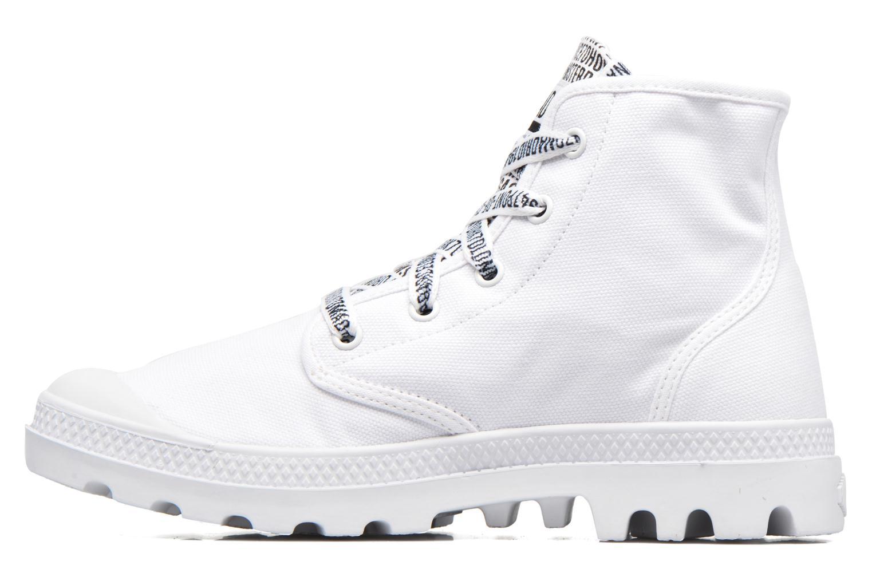 Sneakers Palladium Pampa Hi 70Th U Hvid se forfra