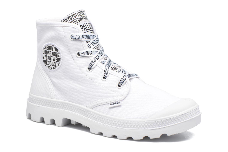 Sneakers Palladium Pampa Hi 70Th U Hvid detaljeret billede af skoene