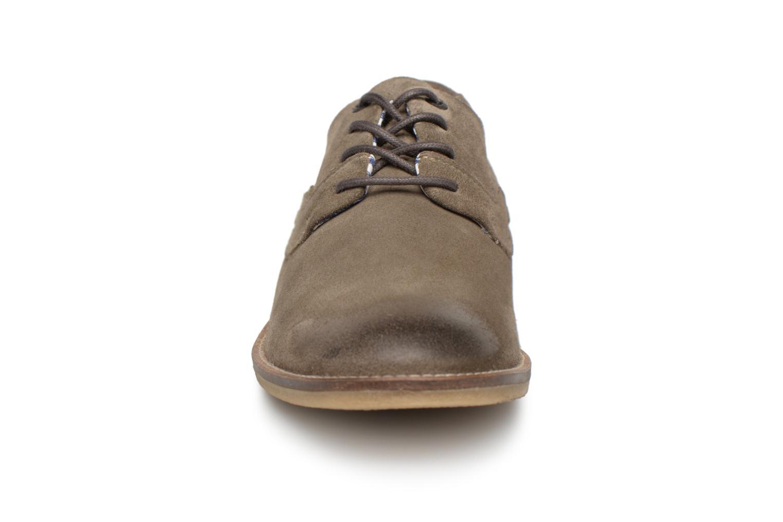 Schnürschuhe Kickers Bachalcis grau schuhe getragen