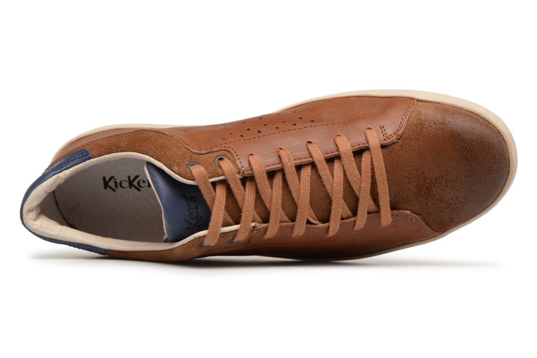 Sneaker Kickers Sniff braun ansicht von links