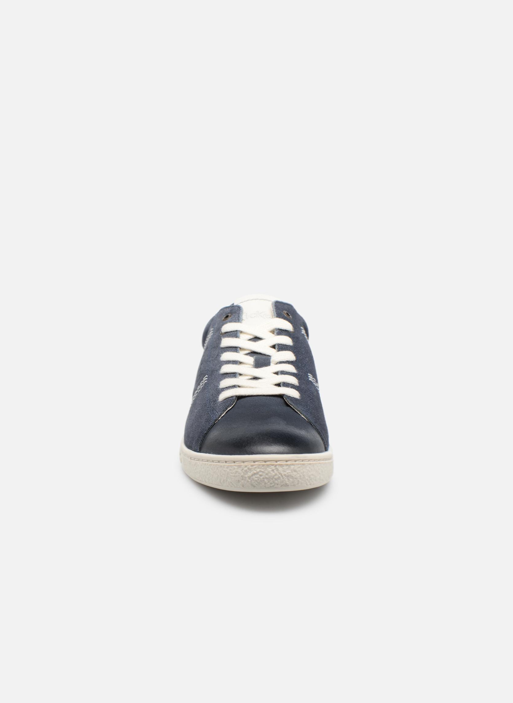 Baskets Kickers San Jose Bleu vue portées chaussures