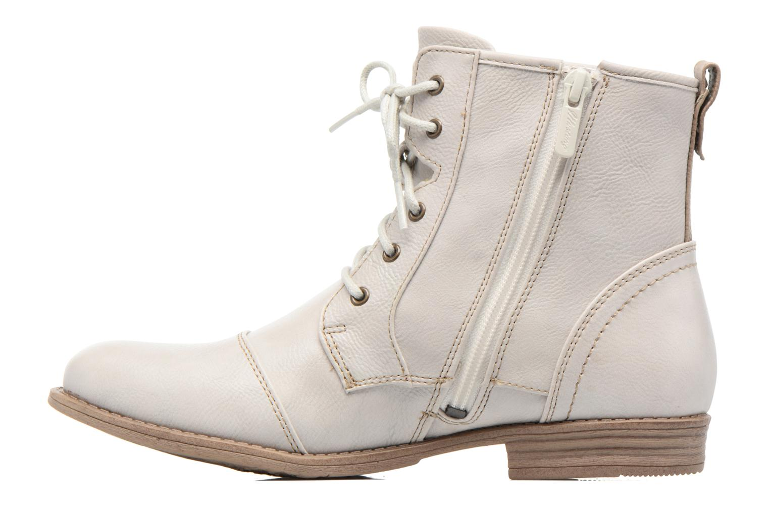 Ankle boots Mustang shoes Chiara Beige front view