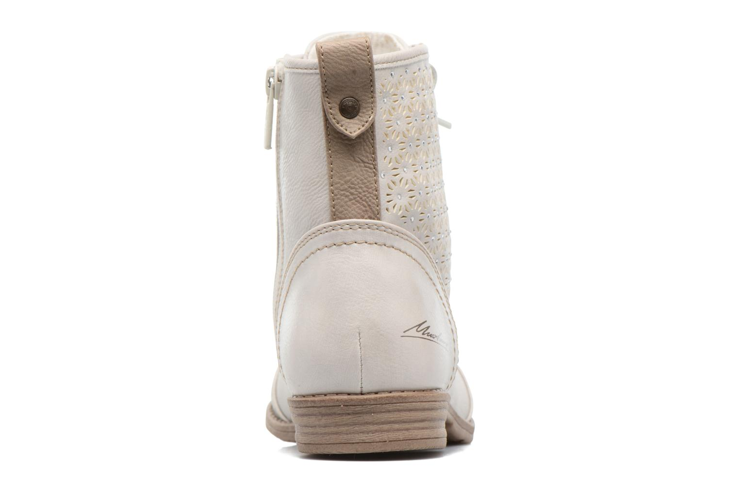 Ankle boots Mustang shoes Chiara Beige view from the right