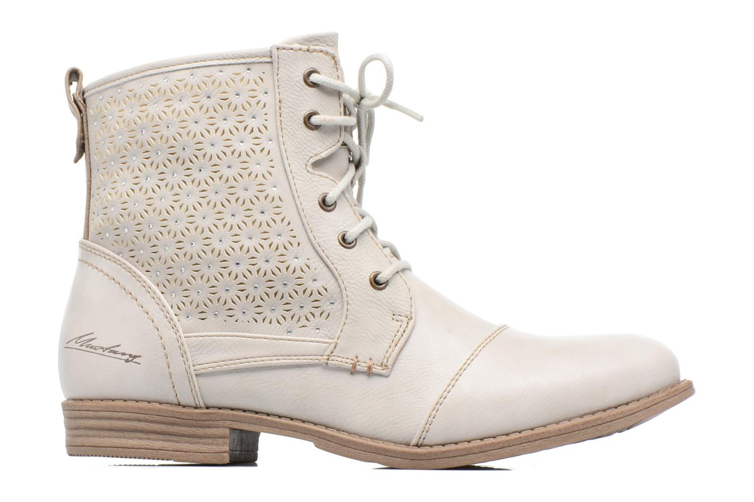 Ankle boots Mustang shoes Chiara Beige back view