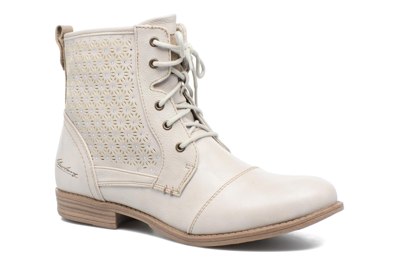 Ankle boots Mustang shoes Chiara Beige detailed view/ Pair view
