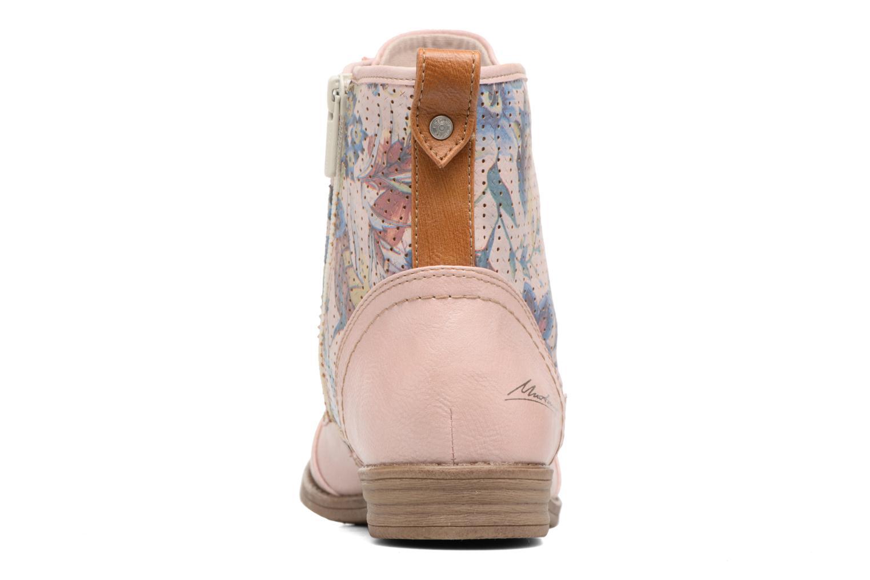 Bottines et boots Mustang shoes Chiara Rose vue droite