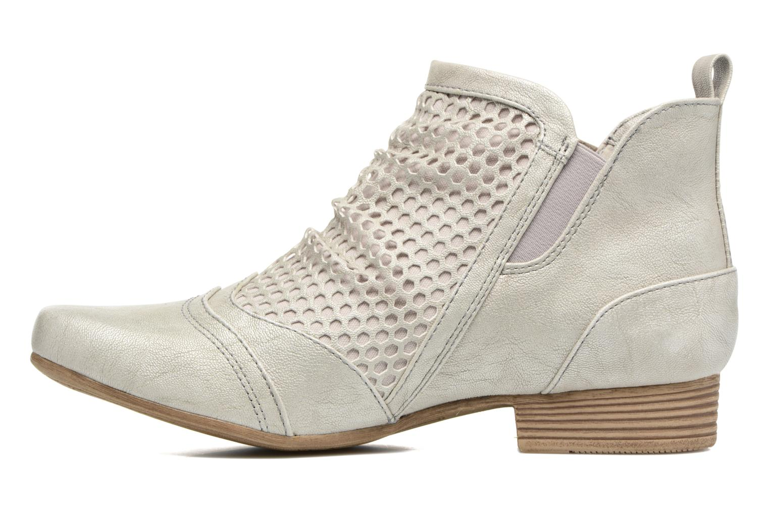 Ankle boots Mustang shoes Clelia Beige front view