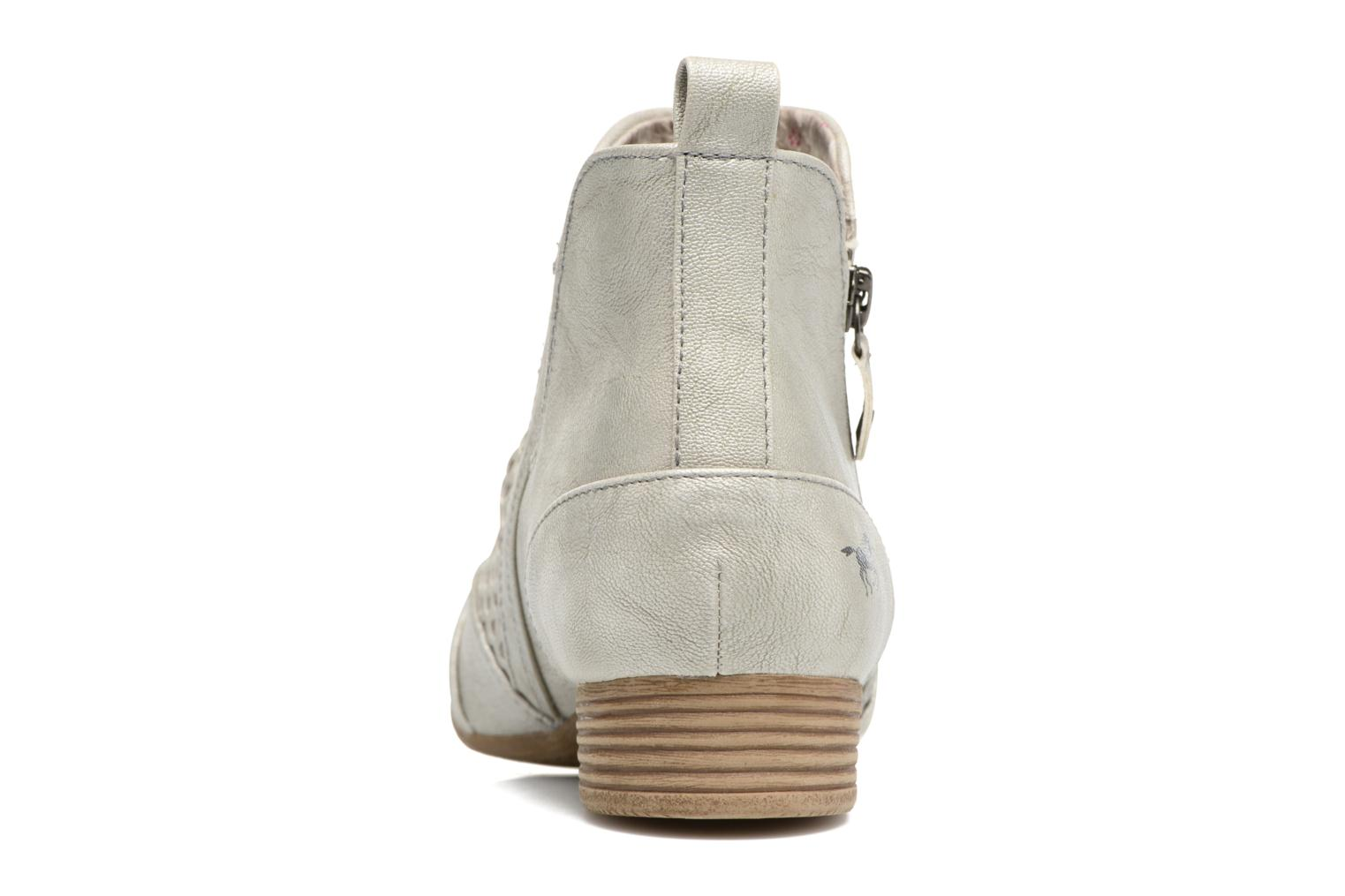 Ankle boots Mustang shoes Clelia Beige view from the right