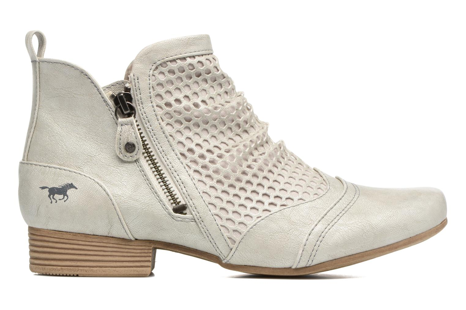 Ankle boots Mustang shoes Clelia Beige back view