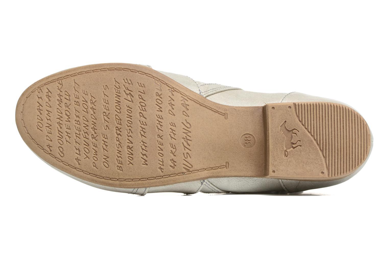 Stiefeletten & Boots Mustang shoes Clelia beige ansicht von oben
