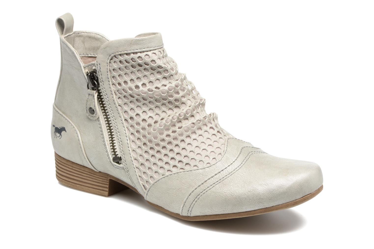 Ankle boots Mustang shoes Clelia Beige detailed view/ Pair view