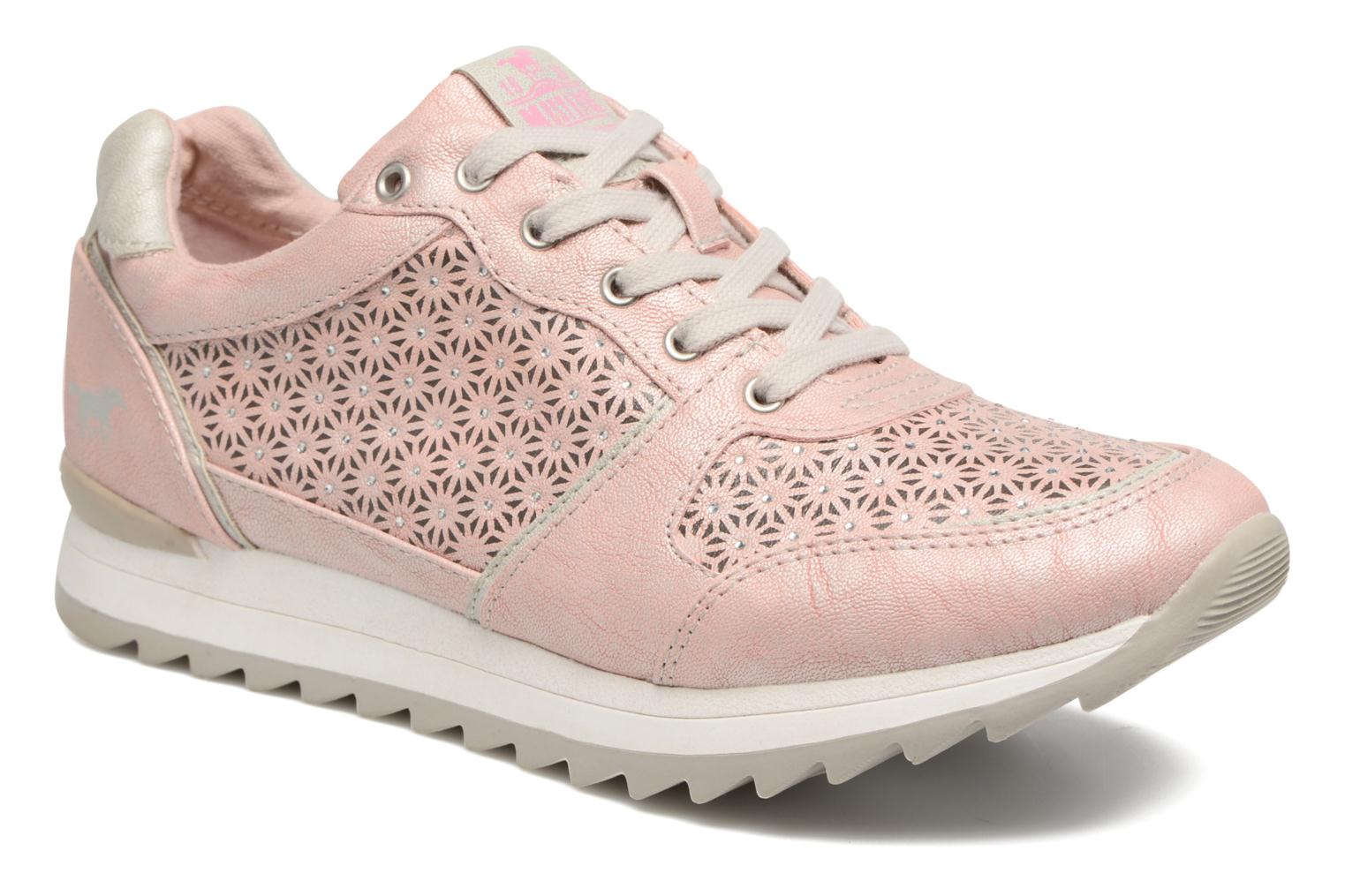 Trainers Mustang shoes Cacilia Pink detailed view/ Pair view