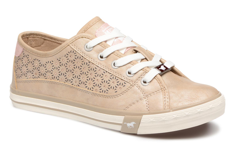 Baskets Mustang shoes Verena Beige vue détail/paire