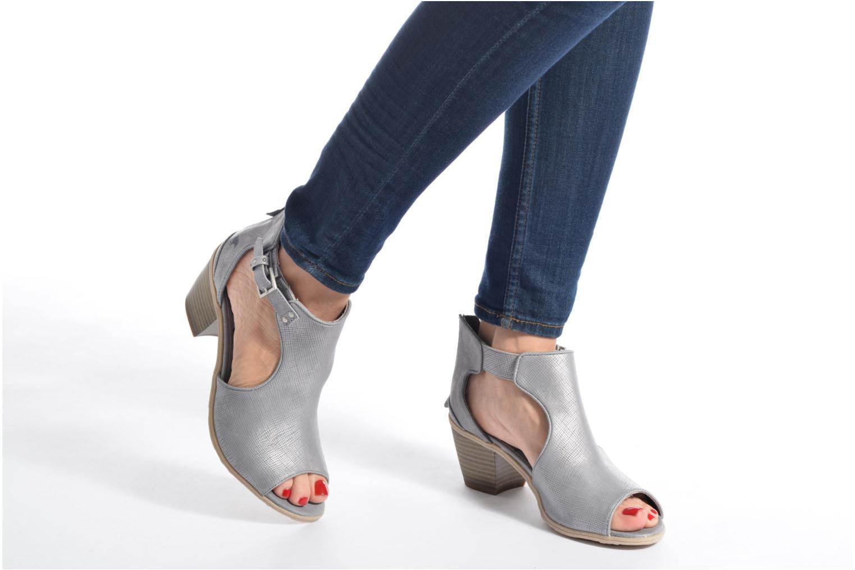Bottines et boots Mustang shoes Theda Argent vue bas / vue portée sac