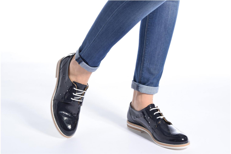Chaussures à lacets Georgia Rose Maglit Bleu vue bas / vue portée sac