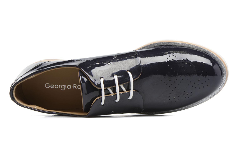 Zapatos con cordones Georgia Rose Maglit Azul vista lateral izquierda