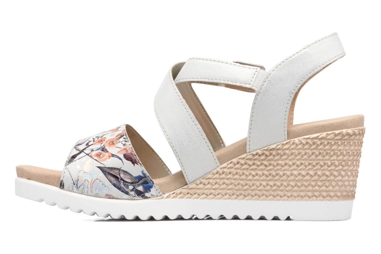 Sandales et nu-pieds Remonte Mona D3452 Argent vue face