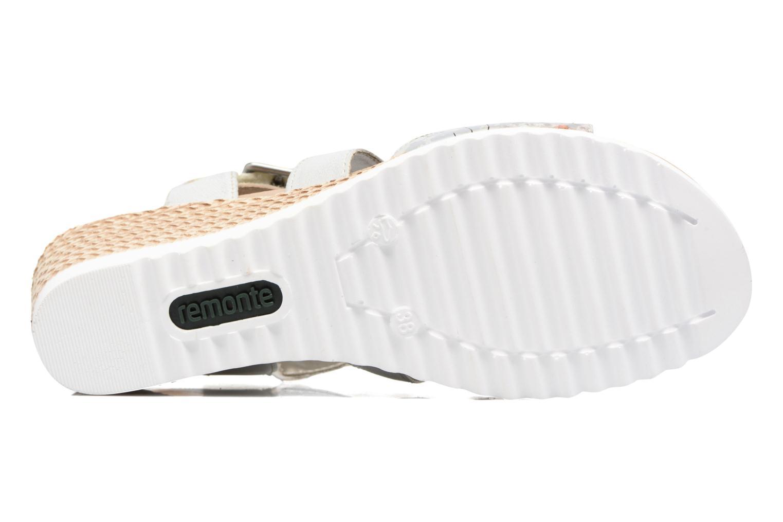Sandales et nu-pieds Remonte Mona D3452 Argent vue haut
