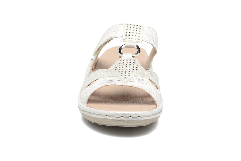 Mules et sabots Remonte Luz D7669 Argent vue portées chaussures