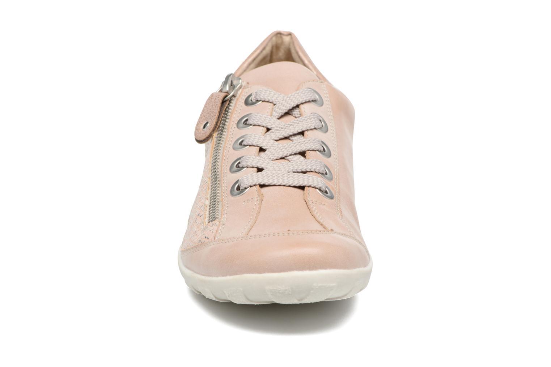 Baskets Remonte Bora R3419 Rose vue portées chaussures
