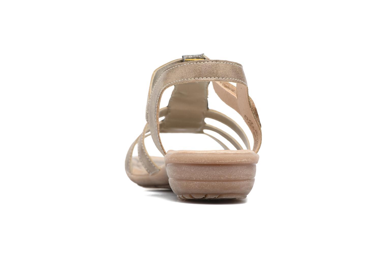 Sandalen Remonte Leoni R3637 Goud en brons rechts