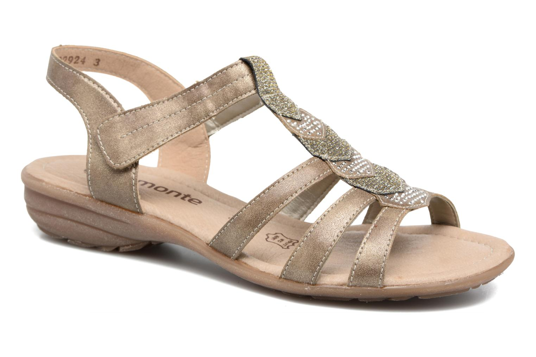 Remonte Leoni R3637 (Or et bronze) - Sandales et nu-pieds chez Sarenza (294314)