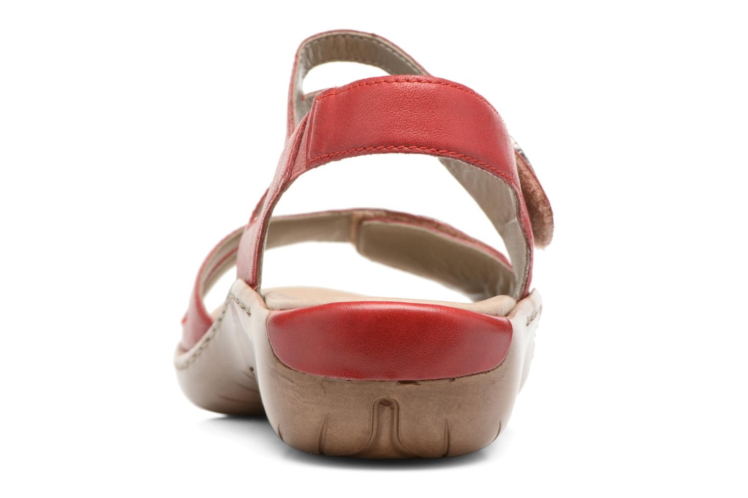 Sandals Remonte Maira R8570 Red view from the right