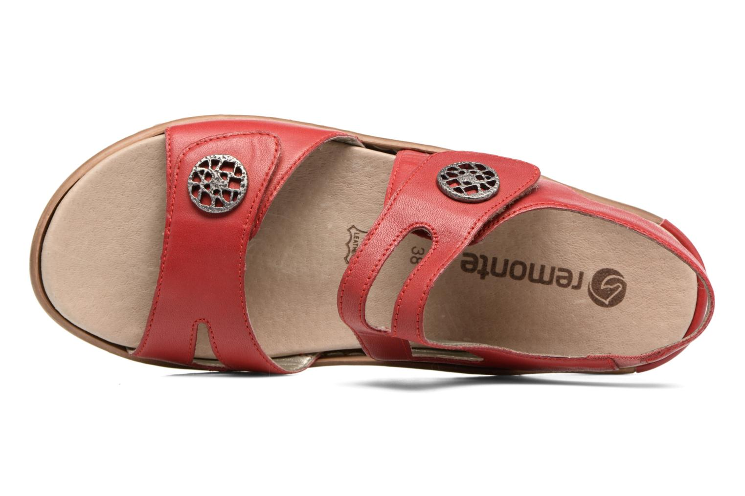 Sandals Remonte Maira R8570 Red view from the left
