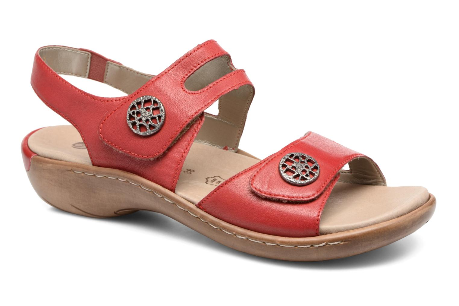 Sandals Remonte Maira R8570 Red detailed view/ Pair view