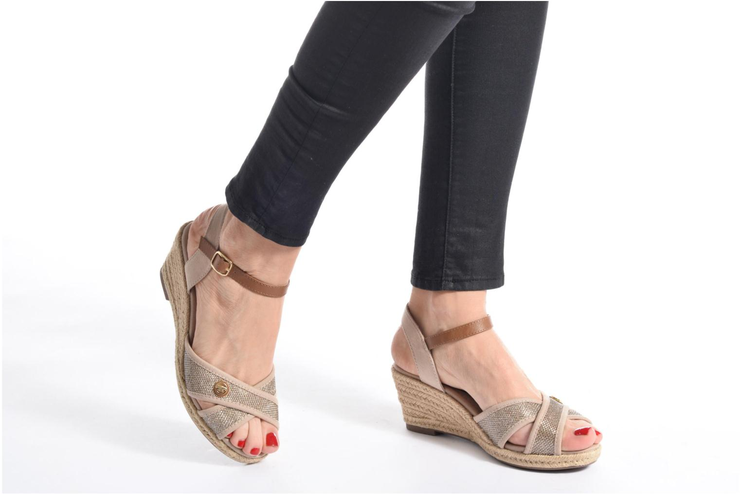 Sandals Tom Tailor Vulquin Beige view from underneath / model view