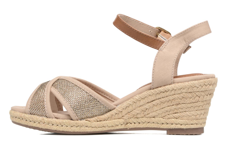 Sandals Tom Tailor Vulquin Beige front view