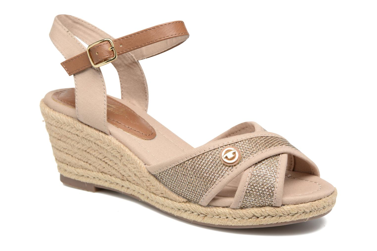 Sandals Tom Tailor Vulquin Beige detailed view/ Pair view