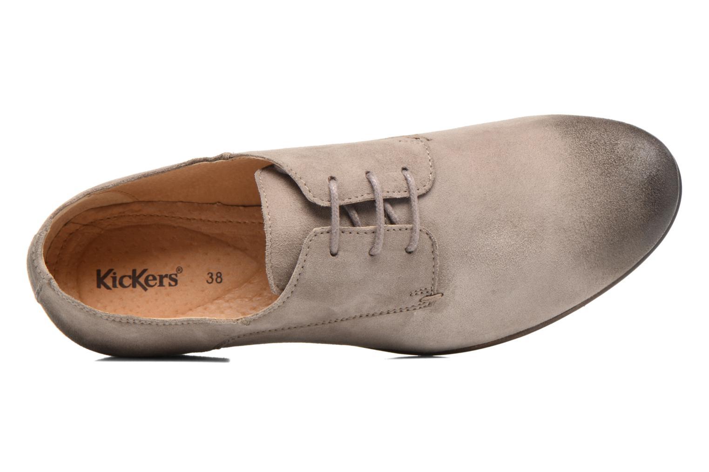 Scarpe con lacci Kickers Galla Beige immagine sinistra