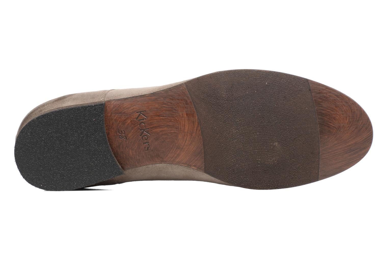Chaussures à lacets Kickers Galla Beige vue haut