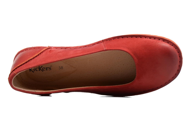 Ballerinas Kickers Mybalerina rot ansicht von links