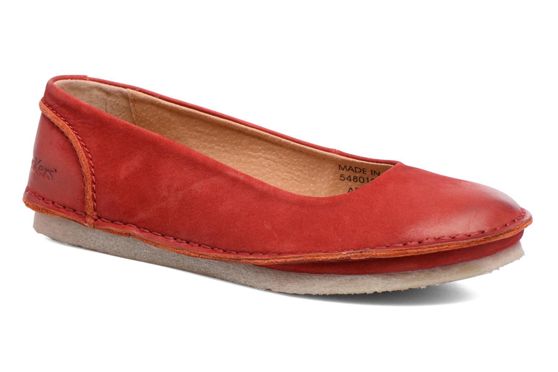 Ballerinaer Kickers Mybalerina Rød detaljeret billede af skoene