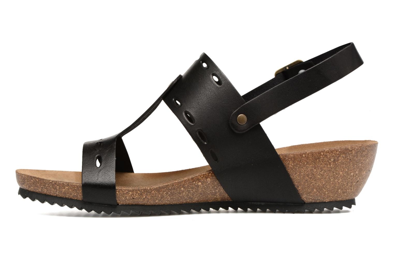 Sandales et nu-pieds Kickers Tokali Noir vue face