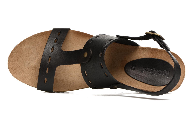 Sandales et nu-pieds Kickers Tokali Noir vue gauche
