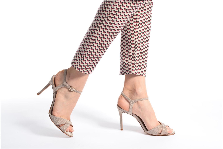 Sandales et nu-pieds COSMOPARIS Alia/Diam Or et bronze vue bas / vue portée sac