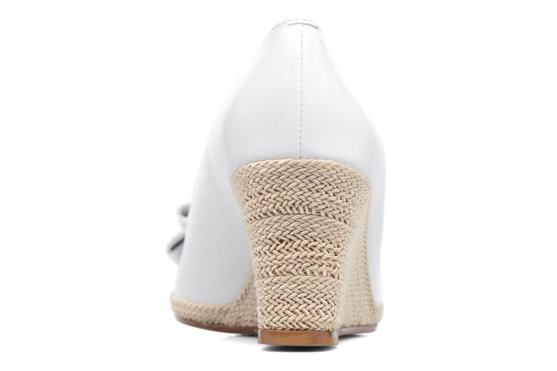 Zapatos de tacón COSMOPARIS Loena Blanco vista lateral derecha