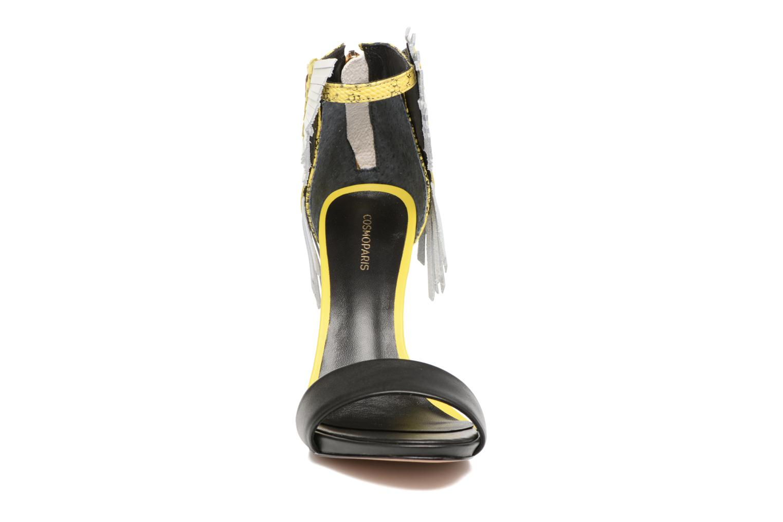 Sandalen COSMOPARIS Jaxi schwarz schuhe getragen