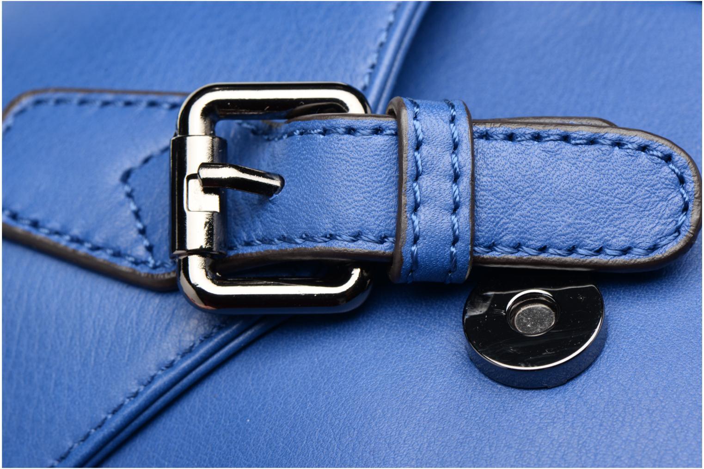 Sauvage Mini besace Cuir Bleu électrique