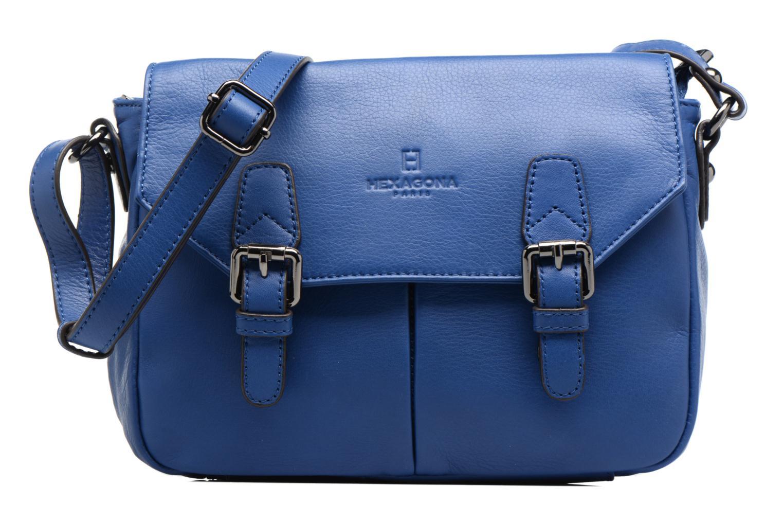Sacs à main Hexagona Sauvage Mini besace Cuir Bleu vue détail/paire