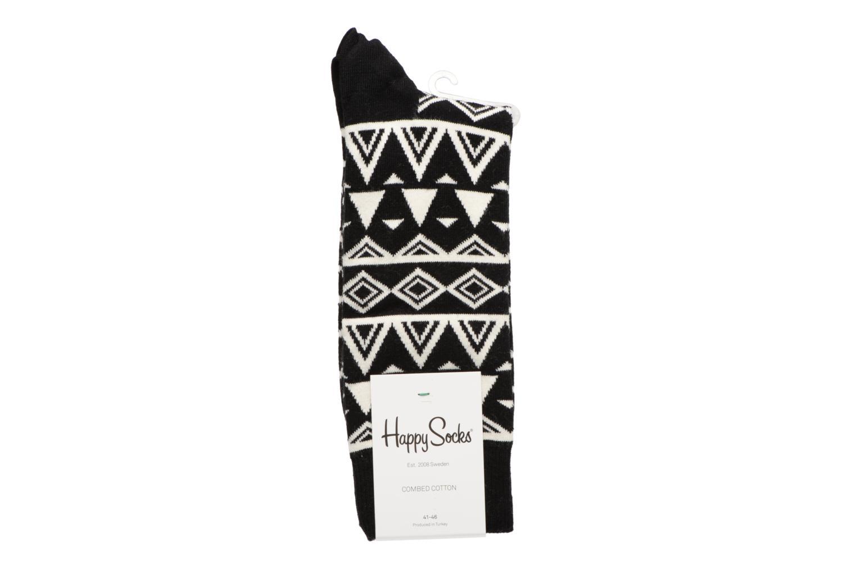 Chaussettes et collants Happy Socks Chaussettes Temple Noir vue portées chaussures