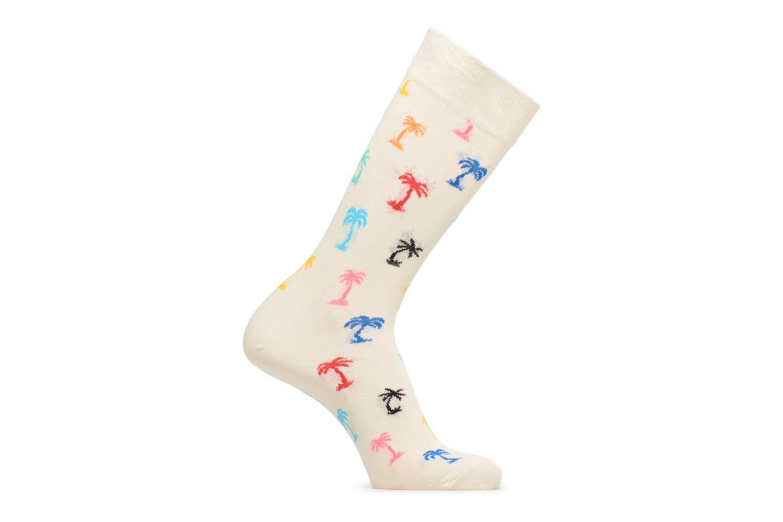Chaussettes et collants Happy Socks Chaussettes Palm beach Blanc vue détail/paire