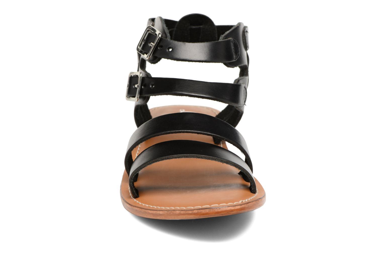 Sandalen L'Atelier Tropézien Liz schwarz schuhe getragen