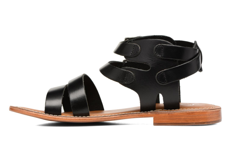 Sandalen L'Atelier Tropézien Liz schwarz ansicht von vorne