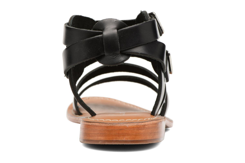 Sandales et nu-pieds L'Atelier Tropézien Liz Noir vue droite