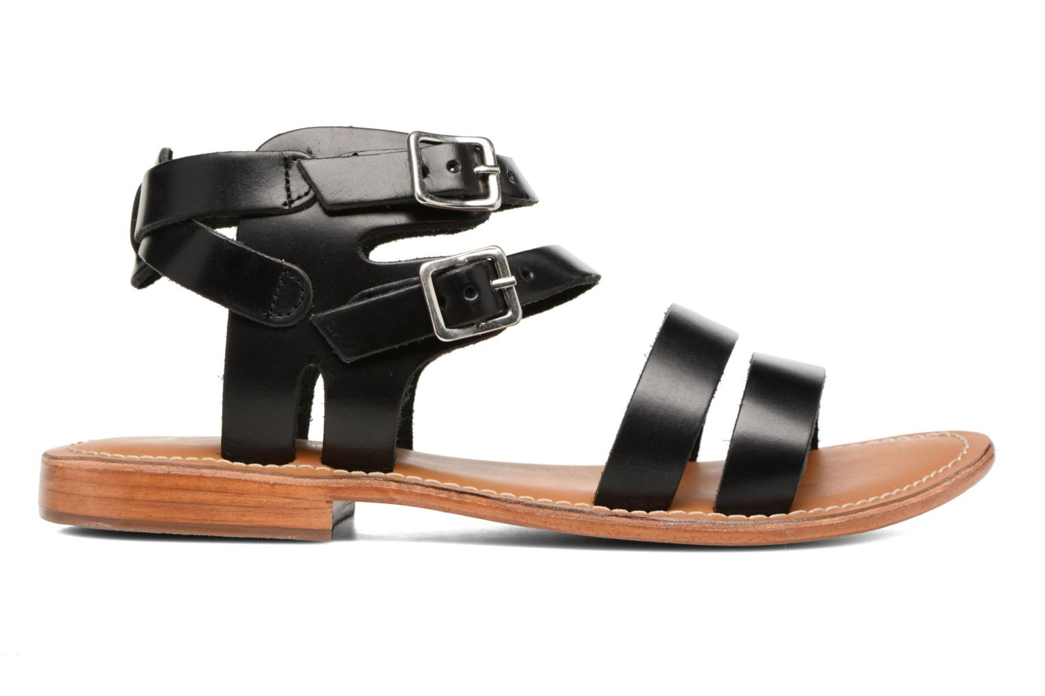 Sandals L'Atelier Tropézien Liz Black back view